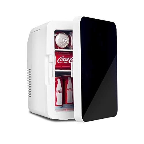 Fullwatt 2 in 1 Mini Kühlschrank, 10 Liter mit Kühl- und Heizfunktion, tragbare elektrische Gefrierbox klein Gefrierschrank für Auto, camping, Lkw, Büro, 220V Steckdose und 12V USB-Anschluss, Schwarz