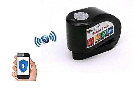 Candado Moto Sin Llave Alarma Antirrobo Inteligente, Aplicación para Móviles, Smart Disc Lock + Mounting Rack