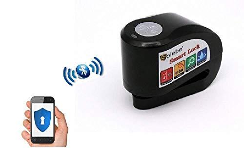 Candado Moto Alarma Antirrobo Inteligente Sin Llave, Aplicación para Móviles, Smart Disc Lock + Mounting Rack