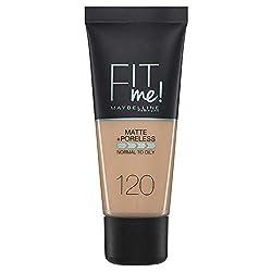 Ofertas Tienda de maquillaje: Base de maquillaje Maybelline Base de maquillaje Maquillaje Mujer FIT ME FOUNDATION 120 CLASSIC IVORY TUBE 30ML (3600531324520)