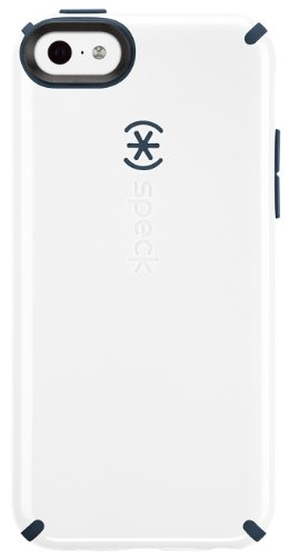 Speck CandyShell - Carcasa Tipo Clip para Apple iPhone 5C, Blanco/Gris carbón