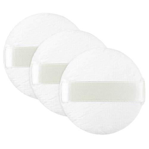 Lurrose poudre cosmétique feuilletée courte peluche moelleux fondation coton feuilletée ronde éponge maquillage éponge de mélange pour les femmes, 6pcs (blanc)