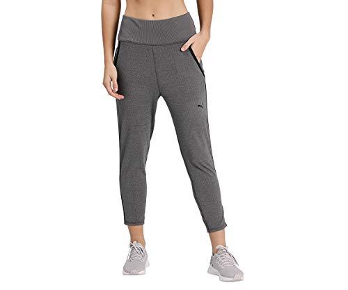 PUMA Studio Rib Jogger, Pantaloni Tuta Donna, Charcoal Gray Heather, M