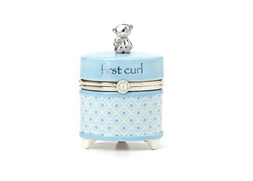 Nat et Jules First Curl Keepsake Box, Bleu