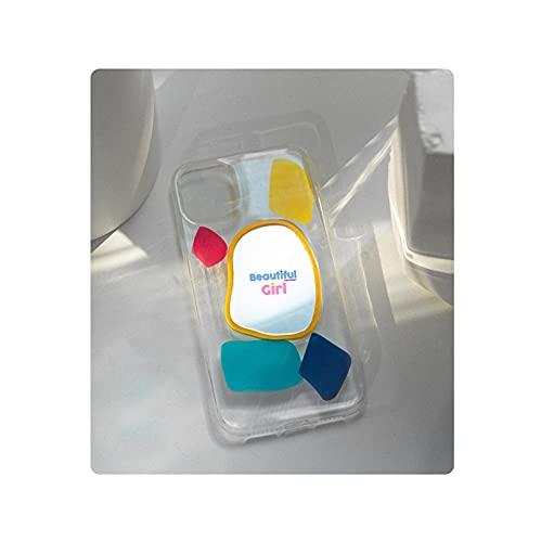 Fashion Candy - Funda transparente para iPhone 11 Pro Max 12 Mini XS XR X 7 8 Plus SE 2020 de silicona suave transparente para iPhone 7