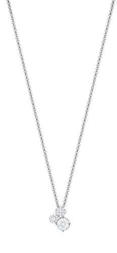 ESPRIT Damen-Erbskette JW50007 925 Silber rhodiniert Zirkonia weiß Rundschliff 40 cm - ESNL93374A400