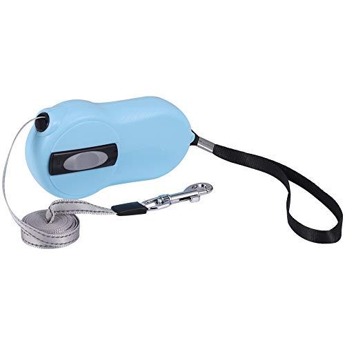 SUI-lim Einziehbare Hundeleine, Hundeleine, Mini-Hundeleine, Ideal für kleine Rassen, Haustiere, Hunde, Katzen, 2 Meter(Blau)