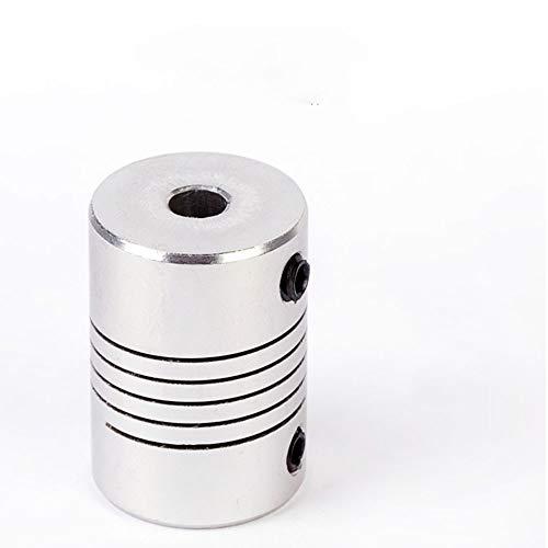 Farleshop 1pc D19 * L25 Shaft Coupling Aluminum Alloy Flexible Jaw 3/4/5/6 / 6.35/7/8 CNC Stepper Motor Coupling Encoder Engraving Machine (Color : 1pc, Size : 3X6)
