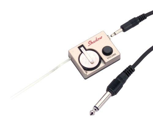 Shadow Electronics Nanoflex tondeuse (voor akoestische gitaren, snel te monteren, met pickup/voorversterker) goudkleurig
