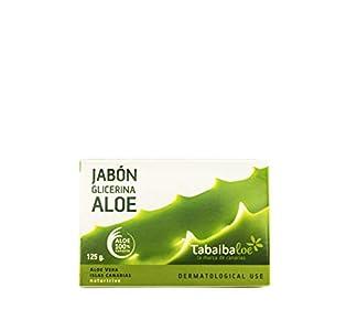TABAIBA Aleo Vera Soap, Jabón de Glicerina con Aloe Vera, 125 gr