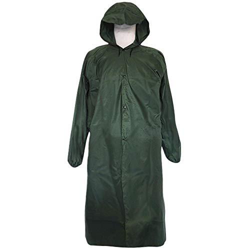 Draagbare doorzichtige transparante regenjas poncho met capuchon en mouwen herbruikbare regenkleding voor individueel verpakt 3 stuks (160 * 70cm),Green
