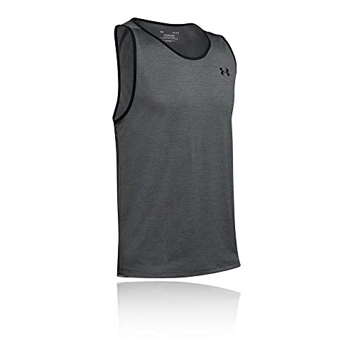 Under Armour Herren UA Tech 2.0 Tank atmungsaktives Tanktop, schnelltrocknendes Trainingsshirt, Grau, Large