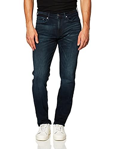 Calvin Klein Men's Straight Fit Jeans, Boston Blue Black, 34W x 30L