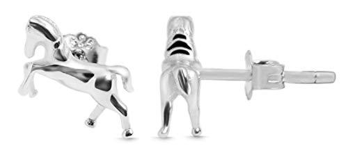 Giulia Luna GL5200100 Oorstekers, 925 sterling zilver, paard oorbellen