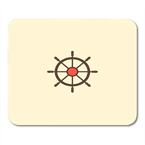 Mauspads Rotes Boot Brauner Abenteuer-Steuerhelm Flach sauber für Ihr mobiles Design Bunter Anker Buccaneer Mauspad für Notebooks, Desktop-Computer Büromaterial