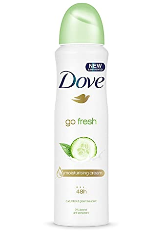 Dove Go Fresh Cucumber, Anti Perspirant Deodorant Aerosol Spray For Women, Long Lasting Anti Sweat And Body Odour Protection For A Clean And Fresh Fragrance 250 ml