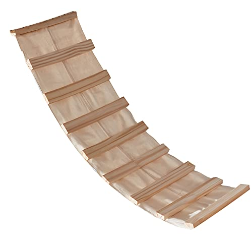 SENNAUX Wall Mounted Cat Shelf Solid Wood Ladder for Pets