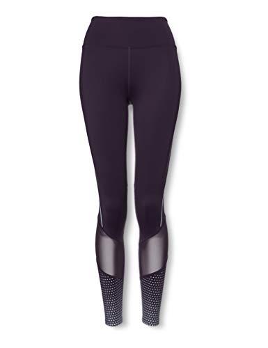 Amazon Brand - AURIQUE Leggings de running moldeadores de cintura alta para mujer, Morado (Nightshade), 40, Label:M