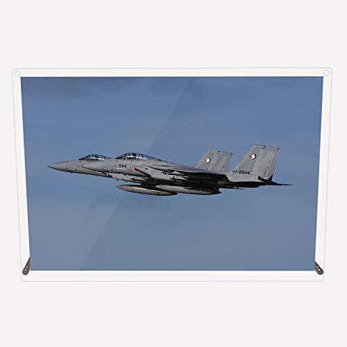 CuVery アクリル プレート 写真 航空自衛隊 戦闘機 那覇基地所属 第204飛行隊 F-15J 2機編隊 デザイン スタンド 壁掛け 両用 約A3サイズ