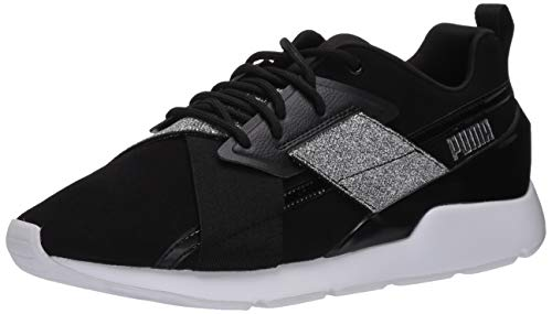 PUMA Muse - Sneaker da donna, nero (nero/argento), 43 EU