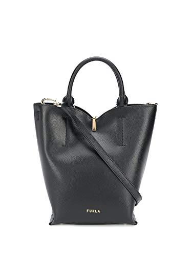 Luxury Fashion | Furla Dames 1056578 Zwart Leer Handtassen | Lente-zomer 20