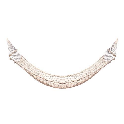 coxxlloo 1-2 Persona portátil Hamaca al Aire Libre Blanca de algodón de Malla Hamaca Columpio de Cuerda de la Playa Porche Patio Interior de la Hamaca for el Dormitorio