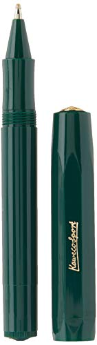 Kaweco Classic Sport Green Gel/Ballpoint Pen Including 0.7 mm Rollerball Pen Refill for Left-Handed and Right-Handed in Classic Design with Ceramic Ball I Gel Rollerball 13.5 cm
