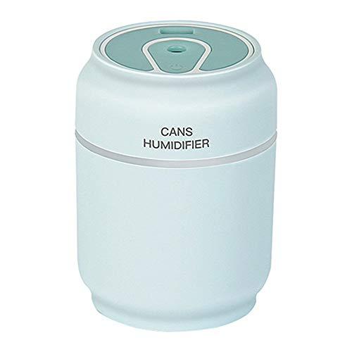 Humidificador del aire del ambientador del purificador del aire del USB de Air Humidfier mini Humidificador del coche con difusor de la niebla del Aromatherapy de la lámpara del LED, azul