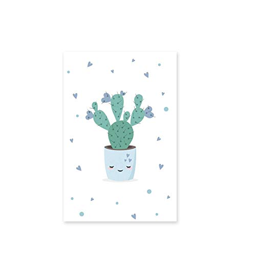 ANDD Película De La Ventana Clever Grass Cactus En Maceta Planta Fresca Ventana Película PVC Opaco Vidrio Esmerilado Decorativo Pegatina Ventana, B