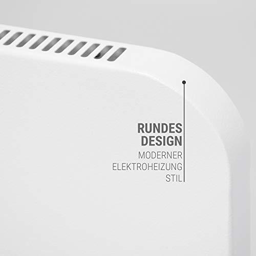 VASNER Konvi Plus Design Infrarot-Hybridheizung 600 Watt weiß re Ecken 60x60cm Thermostat Bild 4*