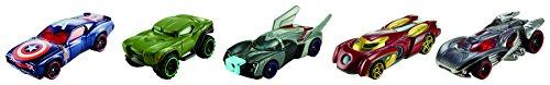 Hot Wheels - Cfc93 - Véhicule Miniature - Modèle Simple - Pack De 5 véhicules Avengers