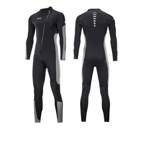 ZCCO nuevo traje de buceo de 3 mm para hombres de una sola pieza cálido surf traje de neopreno de las mujeres de manga larga a prueba de frío Snorkeling invierno traje de baño