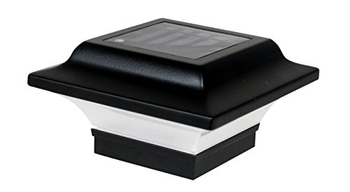 Classy Caps SL082B 2.5X2.5 Black Aluminum Imperial Solar Post Cap, 2.5