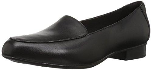 Clarks Women's Juliet Lora Loafer, black leather, 090 M US