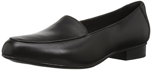 Clarks Women's Juliet Lora Loafer, Black Leather, 100 W US