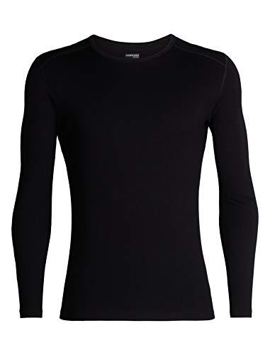 Icebreaker 260 Tech LS Crewe Camiseta, Hombre, Negro, M