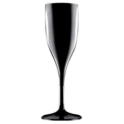 Verpakkingsektfluit voor meerdere doeleinden, 150 ml, zwart, champagnefluit kelk en glas champagneschaal, 1 stuk