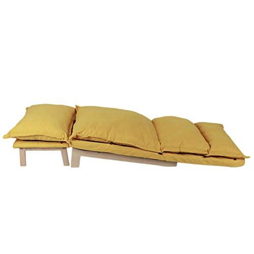 Tomanbery Sillón Cómodo y Duradero Sillón reclinable Resistente al Desgaste Sofá de Moda Silla Sofá Juego de Silla para el hogar Sala de Estar Dormitorio(Yellow)