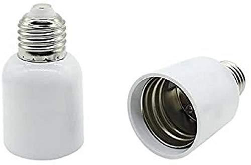 Füllemore - 2 adaptadores de casquillo E27 a E40 para lámparas LED...