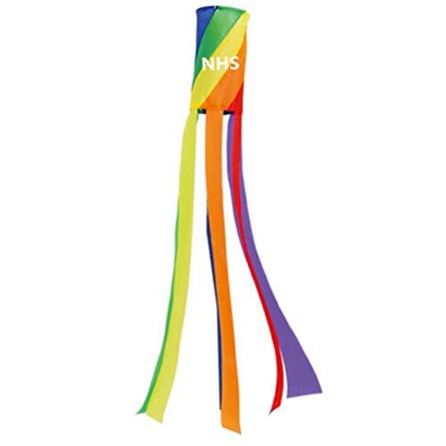 Jackallo Windsack Regenbogen Flagge Windsack Bunte Windmessung Tasche Hängen Dekorationen für Das Aufhängen im Freien