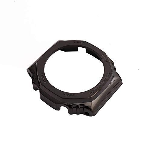 FAAGFC Correa negra de acero inoxidable modificada para relojes GA2100 para deportes al aire libre, impermeable, correa de reloj hembra (color de la correa: caja 1, ancho de la correa: GA2100)
