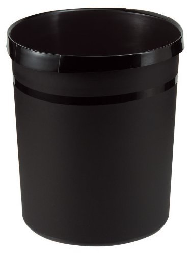 Papierkorb Grip mit Griffmulden, Inhalt 18l, 35cm hoch, schwarz