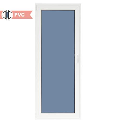 Balconera PVC Practicable Oscilobatiente 1 hoja apertura Izquierda 800 ancho x 2000 alto