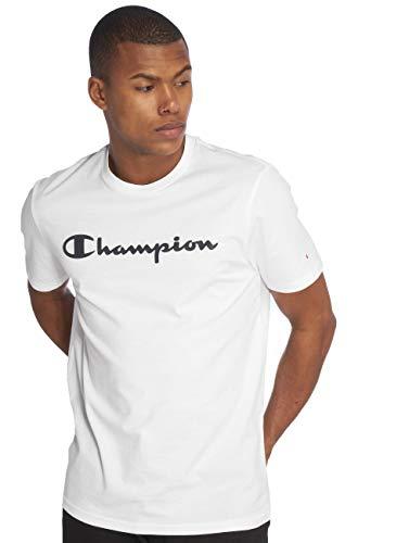 Champion T-Shirt Herren 212687 S19 WW001 WHT Weiss, Größe:XL