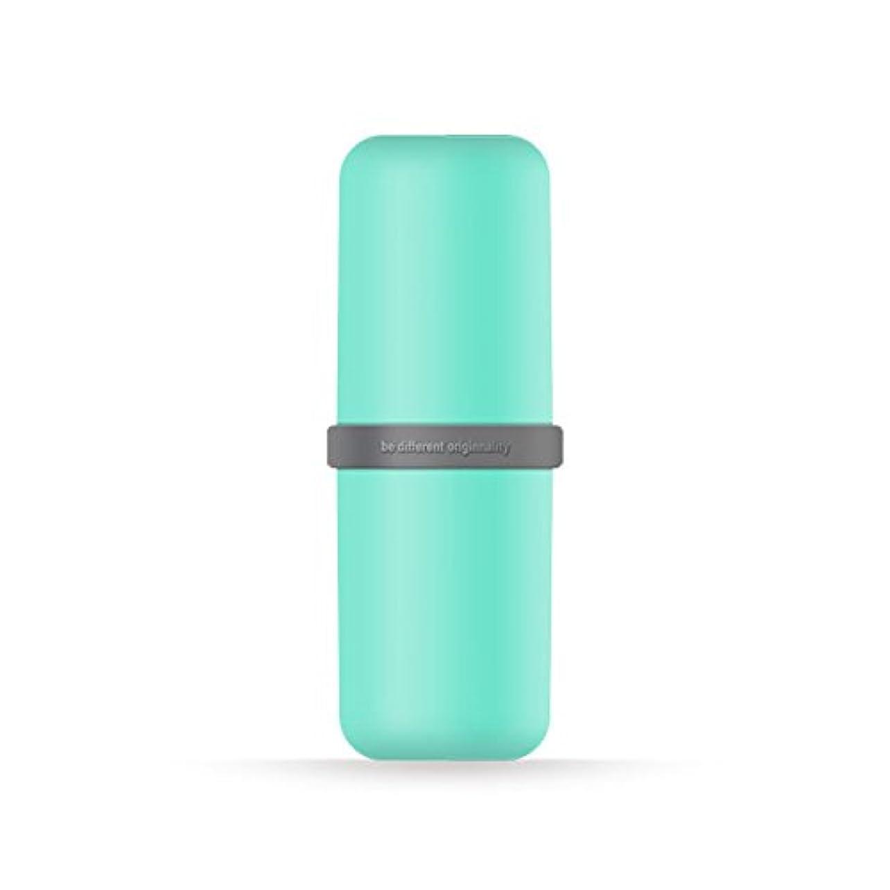 理解発明仮説ポータブル歯ブラシWashカップ歯磨き粉ボックス便利旅行歯ブラシ歯磨き粉オーガナイザー 6*20cm グリーン