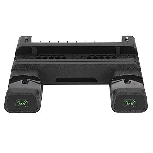 Estante de almacenamiento multifuncional con protección contra cortocircuitos de la base del ventilador de disipación de calor con luz LED, para PS4 PRO