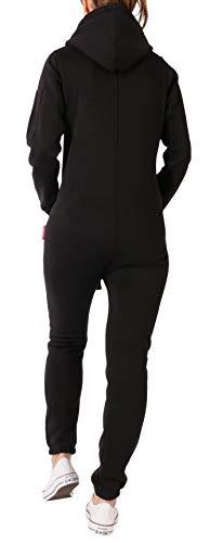 Finchgirl 2018 Jumpsuit Damen Overall Jogger Pocket Taschen, schwarz-weiß - 2