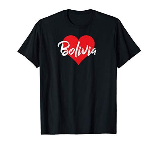 Camiseta de I Love Bolivia Regalo de amante boliviano para Camiseta