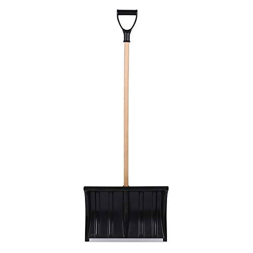 Read About Snow Shovel with Metal Edge Strip Lightweight and Extension Steel Handle Heavy Duty Snow ...