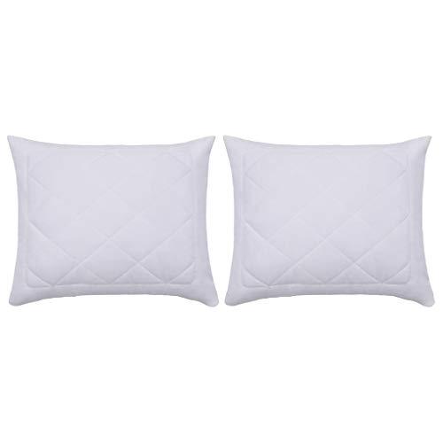 LONGMHKO Protectores de Almohada 2 Unidades Blanco 60x70 cm Dimensiones: 60 x 70 cm